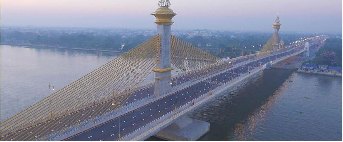 Chao Phraya Brücke in Thailand