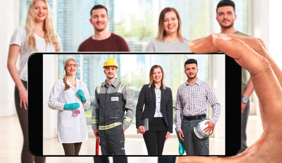 Evonik bietet eine Vielzahl an Ausbildungsberufen an (Foto: Evonik Industries).