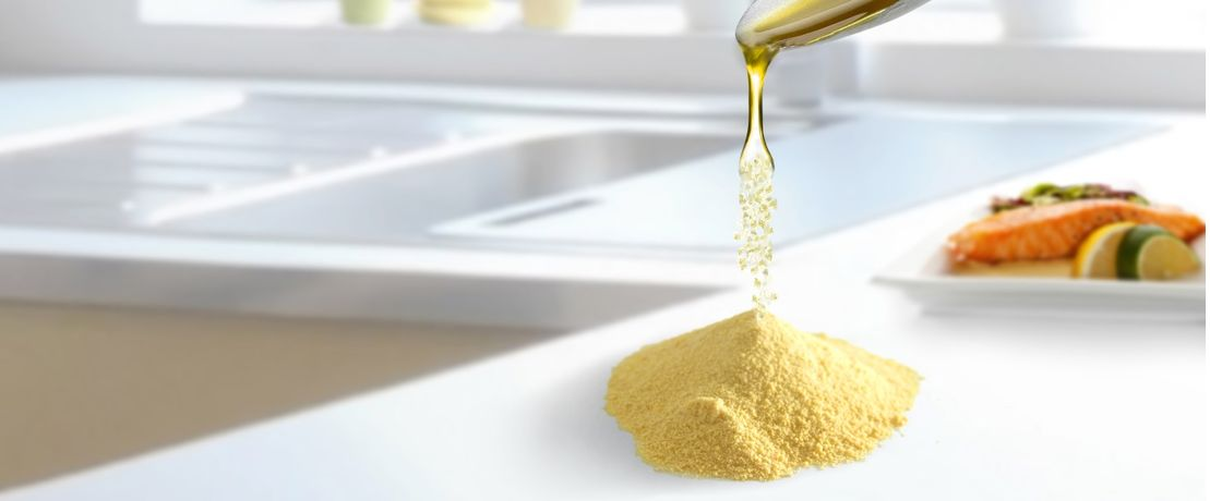 Powder from oil: New omega-3 product for dietary supplements and functional foods