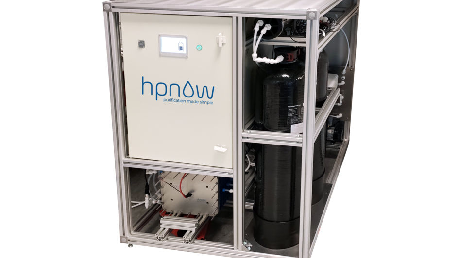 An HPGen from HPNow. The device can produce H2O2 from water, air and electricity. © HPNow