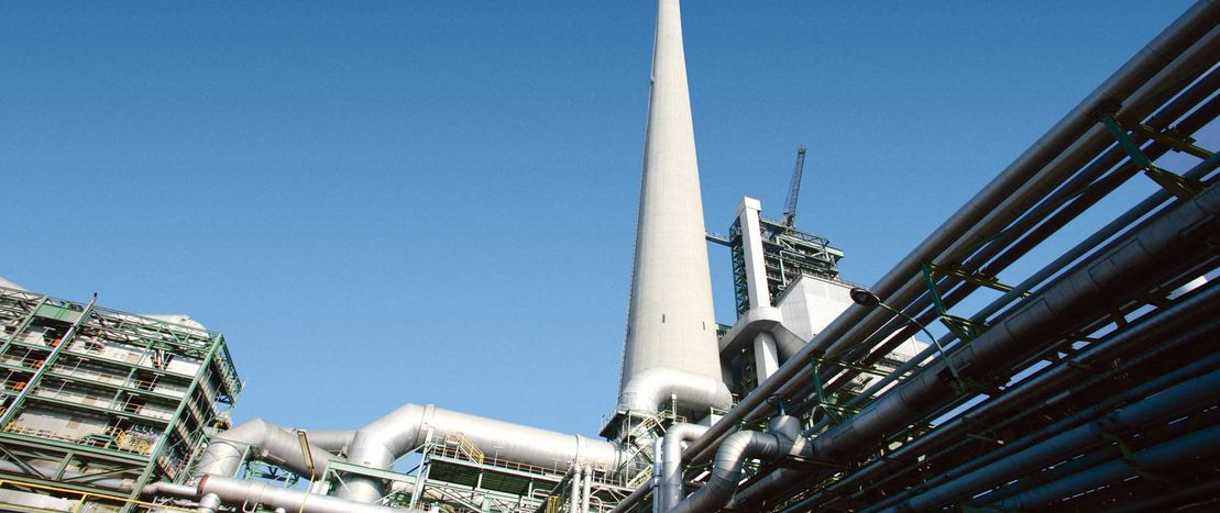 The gas-fired power plant in Marl has an efficiency rate of 90 per cent.